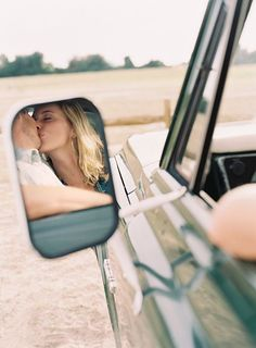 Adore this engagement shoot. Chevy mirror shot. Odalys Mendez. This could be used for various ideas with a couple and make it fun, retro yet young and full of spirit