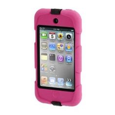 Griffin GB02478 Survivor + Belt Clip for iPod Touch 4 (Pink, Black)  ($20.46) Independently tested and certified to meet conditions outlined in US Department of Defense MIL-STD-810 and UK Department of Defense Def-Stan 00-35 .  Integral Display shield deflects Wind/Rain (up to 200 mm/hr) .  Rigid internal frame protects from Shock/Drop (concrete from 6'/1.8 m) .  Sealed ports block Blown Sand/Dust (up to 18 m/sec) .