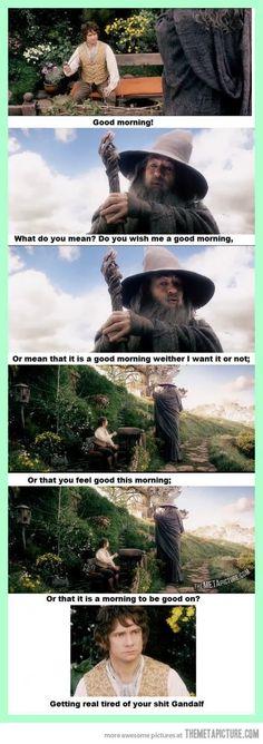 Gandalf being Gandalf…