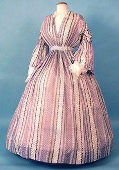 Day dress, 1850-55, Karen Augusta Antique Lace & Fashion summer dresses, 1850, day dresses