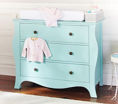 Add a pop of color with the Simone Dresser and changing pad. #potterybarnkids #spring2014