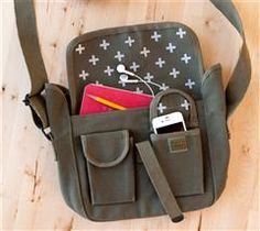 Update your messenger bag with this fun pattern!