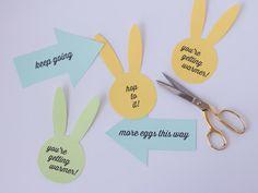 printable easter egg hunt signs!