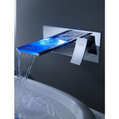 LightInTheBox Sprinkle® - Color Changing LED Waterfall Bathroom Sink Faucet (Wall Mount)