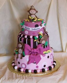 My Fave Purple Monkey Cake Ever - by Kitagrl @ Cakecentral.com