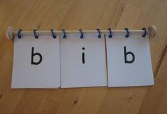 Montessori Flipable Words Game - great idea!