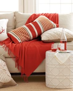Cashmere Throw, Core Red