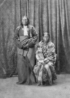 Chief of Southern Cheyennes,- Stone Calf, -and wife :: 1871