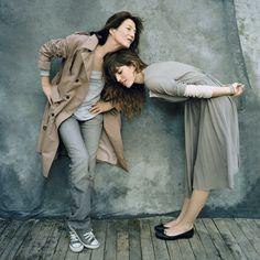 Jane Birkin et sa fille Charlotte Gainsbourg