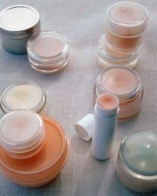 Homemade lip balm, via Martha Stewart. aewoodford