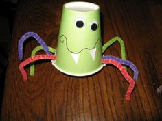 Preschool Crafts for Kids*: Halloween Paper Cup Spider Craft