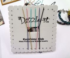 kumihimo square disk instructions