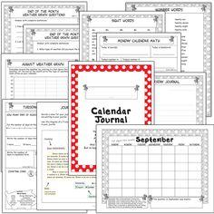 2nd Grade Common Core Interactive Calendar Journal — Math & Writing