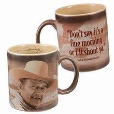 John Wayne Ceramic Coffee Mug- for dad