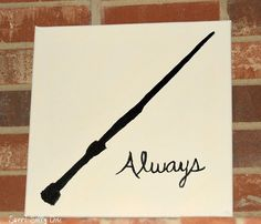 Hand Painted Customizable Harry Potter Silhouette Canvas Art  by SweetSillyChic on Etsy - my design or yours! #harrypotter
