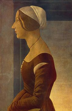 Circle of Sandro Botticelli: Portrait of a Plainly Dressed Lady, 1490's    Florence: Palazzo Pitti