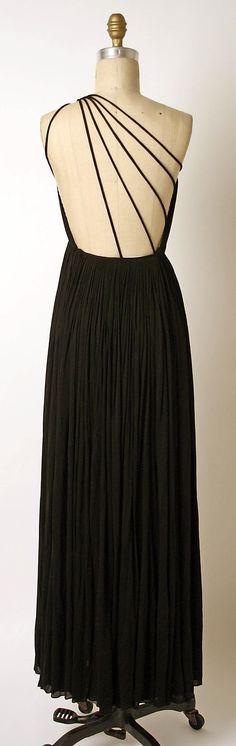 Dress, Evening  Madame Grès (Alix Barton) (French, Paris 1903–1993 Var region)  Date: 1970 Culture: French Medium: silk