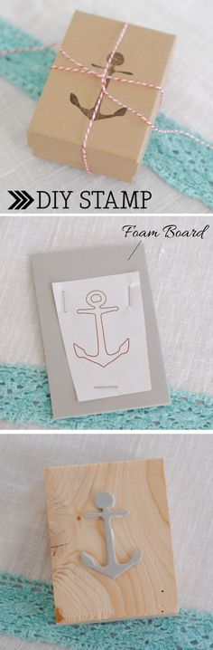 A DIY stamp using foam board and an outlined image! Time to make a trip to Joannes!