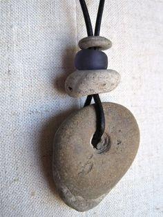 Unisex Organic Stone Necklace