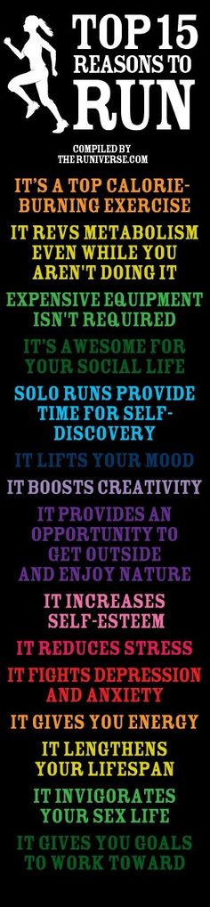 This is so true - it really helps with depression!  top 15 reasons to run!