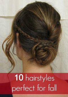 bun hairstyles, up hairstyles, 10 hairstyles, diy hair, hair how to braid