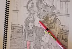 Make Coloring Pages out of your Disney Trip Photos | Capturing Magic