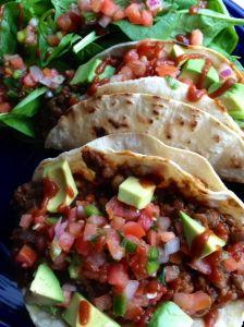 Lentil crumbles tacos