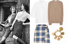 Note to self: kilt + cardy = smart!  How to Master the Preppy Look - 7 Sisters Style - Elle