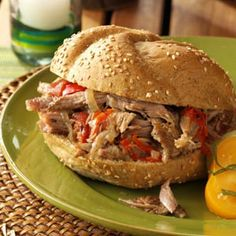Italian Pulled Pork Sandwiches Recipe from Taste of Home