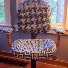 Reupholstered chair DIY @decorellaknox