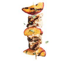 Plum and Oregano Chicken Kebabs