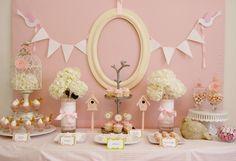 Mesa decorada de Baby Shower