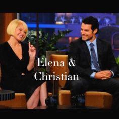 Elena Lincoln (Mrs. Robinson) & Christian Grey #FiftyShades @50ShadesSource www.facebook.com/FiftyShadesSource