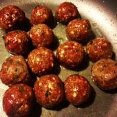 Deer meat speggetti meat balls