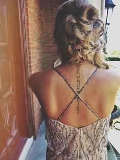 tattoo placements, style, dress, back tattoos, a tattoo, sporty fashion, spine tattoo, summer life, ink