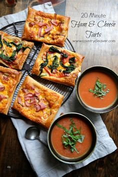 20 Minute Ham and Cheese Tarts - www.countrycleaver.com