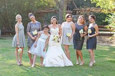 Rustic Wedding Bridesmaids + Bride