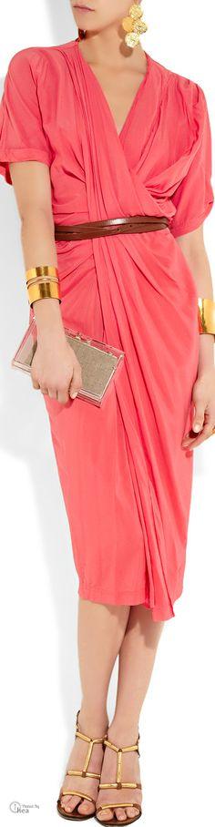 Donna Karan ● Draped crepe Dress