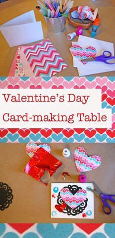 Valentines Day Card Making Table from Tinkerlab..
