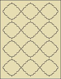 "Light Tan - Victorian Style Decorative Labels On Sheets - Dress Up Your Labeling Project  2.5"" x 2.5"""