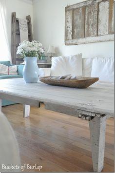 ~barn door coffee table~
