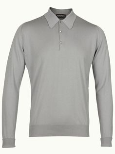 John Smedley Finchley Long Sleeve Polo Shirt - Pewter - Available to buy at http://www.afarleycountryattire.co.uk/product-tag/john-smedley-finchley-long-sleeve-polo-shirt/ #johnsmedley #mensfashion #poloshirt #afarleycountryattire