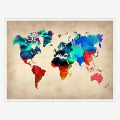 World Map Print, $35, now featured on Fab.