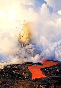 Kilauea Volcano Ocean Entry Kalapana, Hawaii, USA By C.J. Kale Kailua-Kona, Hawaii, USA