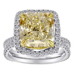 Fancy Yellow #Diamond ring