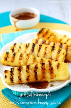 Grilled Pineapple with Cinnamon Honey Drizzle