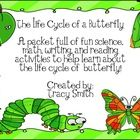 Nine different activities to teach your students all about the life cycle of a butterfly!    This packet comes with: Anchor Charts: 	Use the anchor...