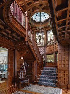 interior, victorian architecture, stairs, mansion, dream