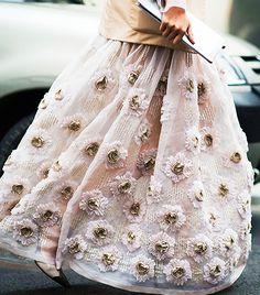 blooming blush pink maxi skirt