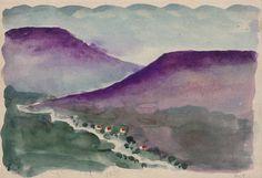 Georgia O'Keeffe. Untitled (Landscape)  aka: Adrienne Brugger Sketchbook  Watercolor on paper, 1917